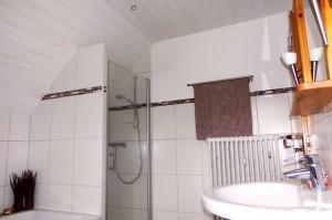 Badezimmer mit Dusche & WC | Ferienwohnung Abendsonne beim Europa-Park Rust